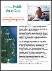 100km paddle for cure thb